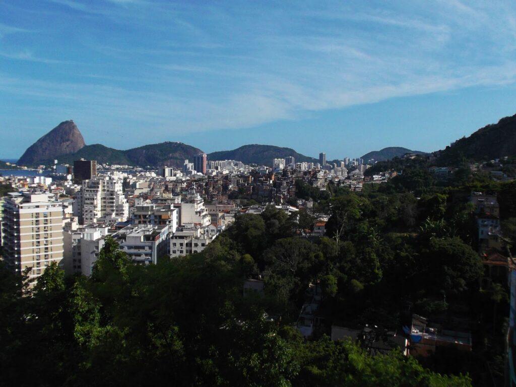 View from Santa Teresa, one of the rough neighborhoods in Rio de Janeiro.