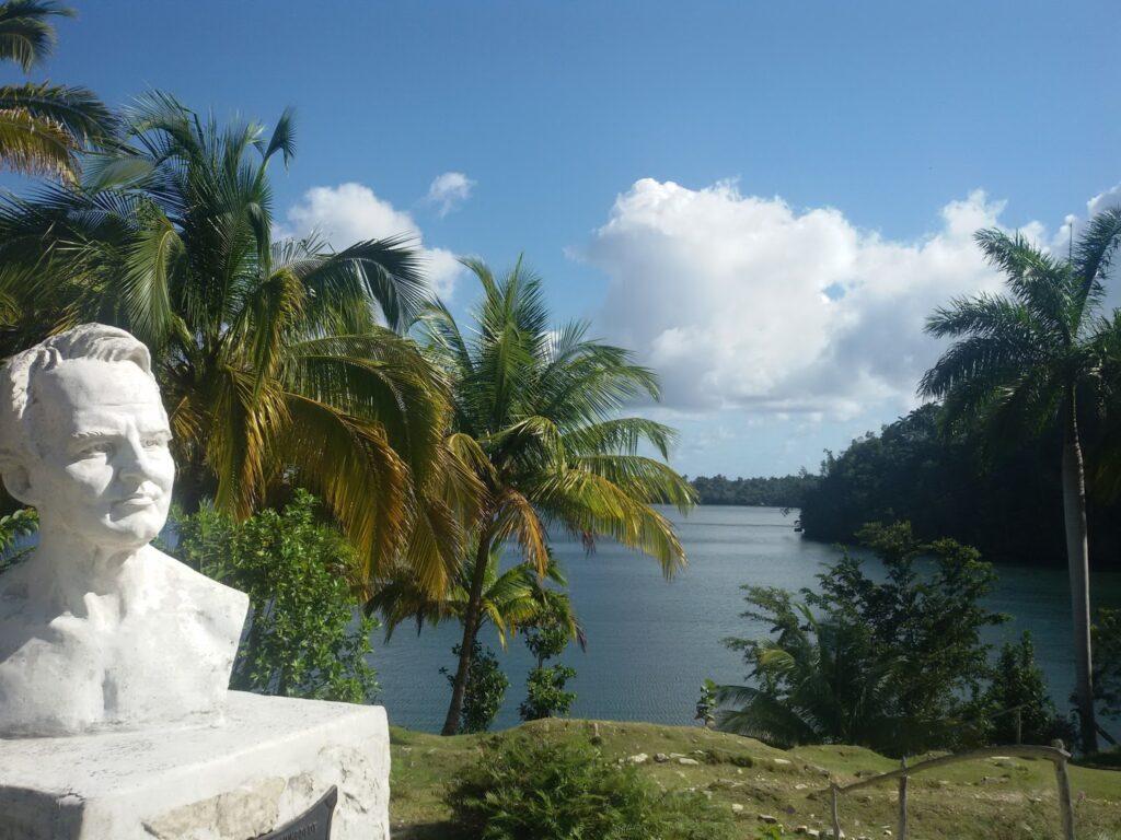 Bust of Alexander von Humboldt at the Parque Nacional Alexander von Humboldt in Baracoa, Cuba