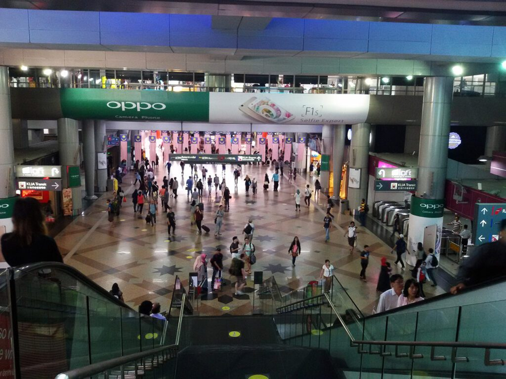 Kuala Lumpur Sentral - the largest railway station in all of Southeast Asia.