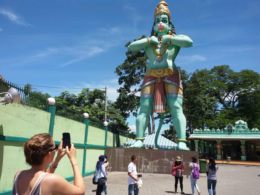 Hanuman at the Batu Caves on the outskirts of Kuala Lumpur