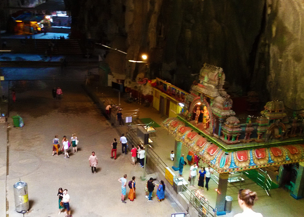 The main cave of the Batu Caves on the outskirts of Kuala Lumpur