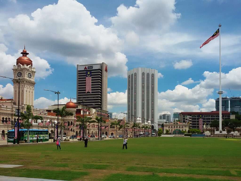 Sultan Abdul Samad Building and the Merdeka Square in Kuala Lumpur