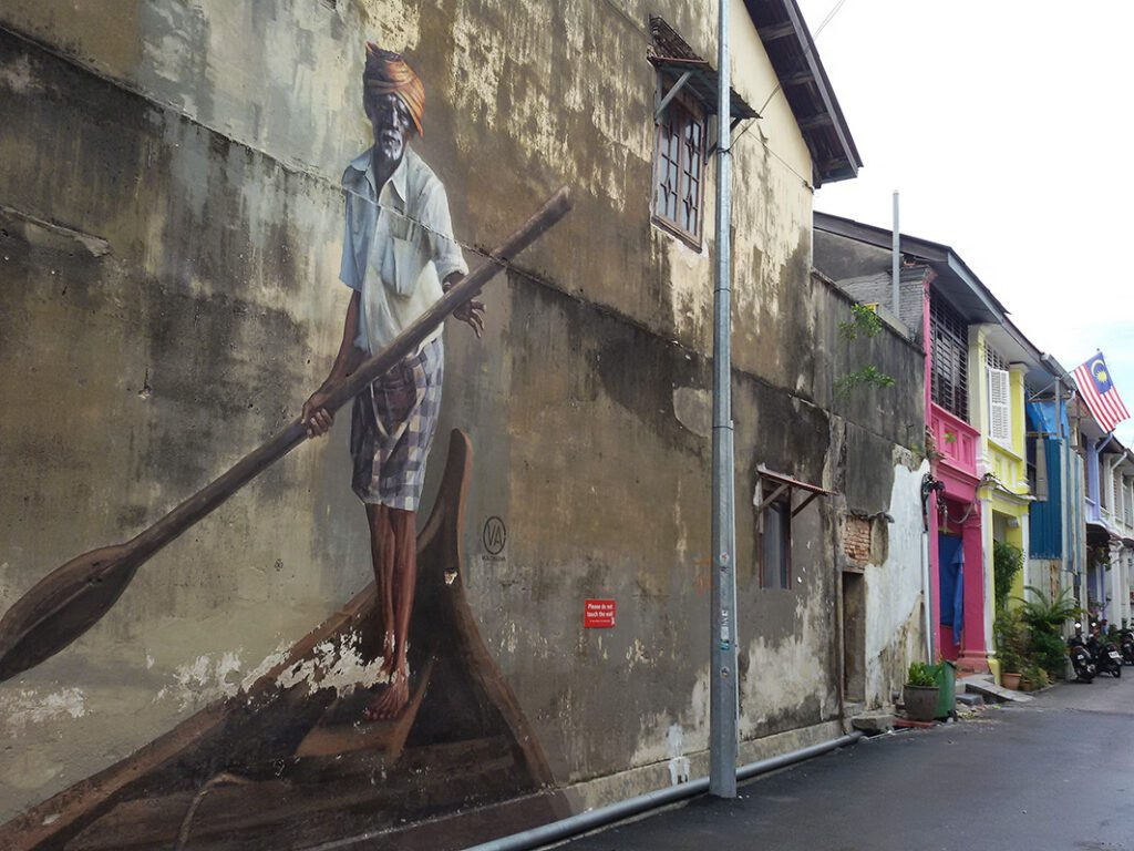 mural by Russian artist Yulia Volchkova in Georgetown on Pulau Penang