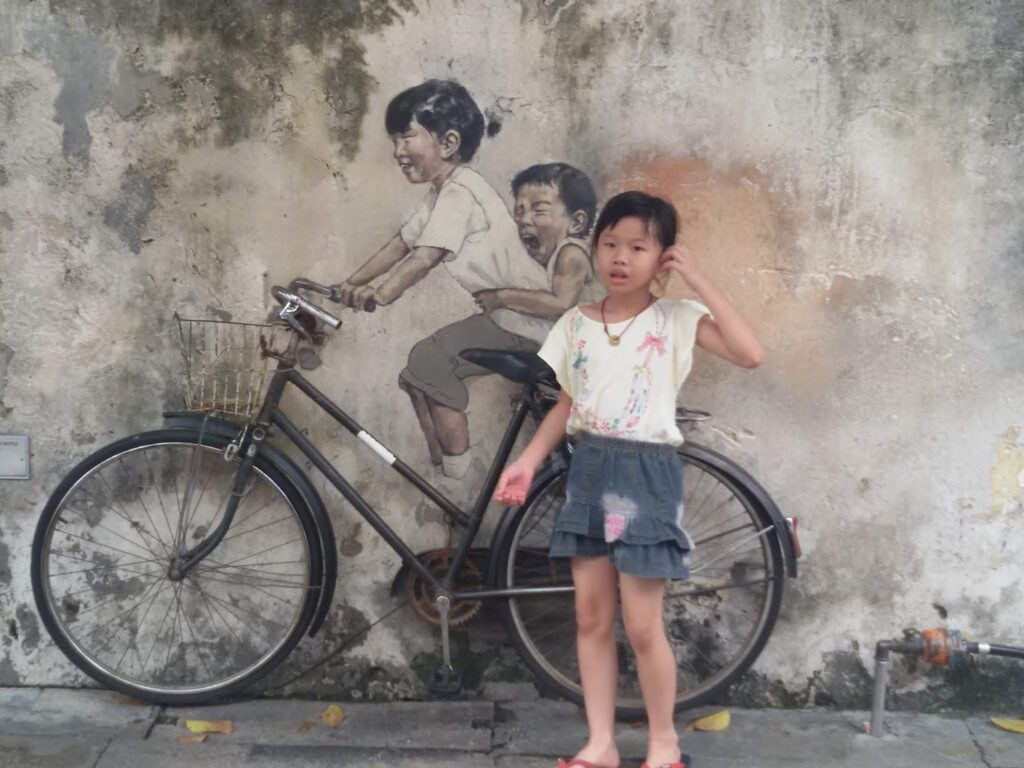 Streetart by Ernest Zacharevich in Georgetown in Malaysia