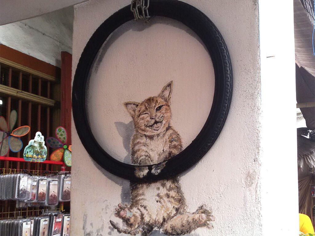 Cat Mural in Georgetown on Pulau Penang