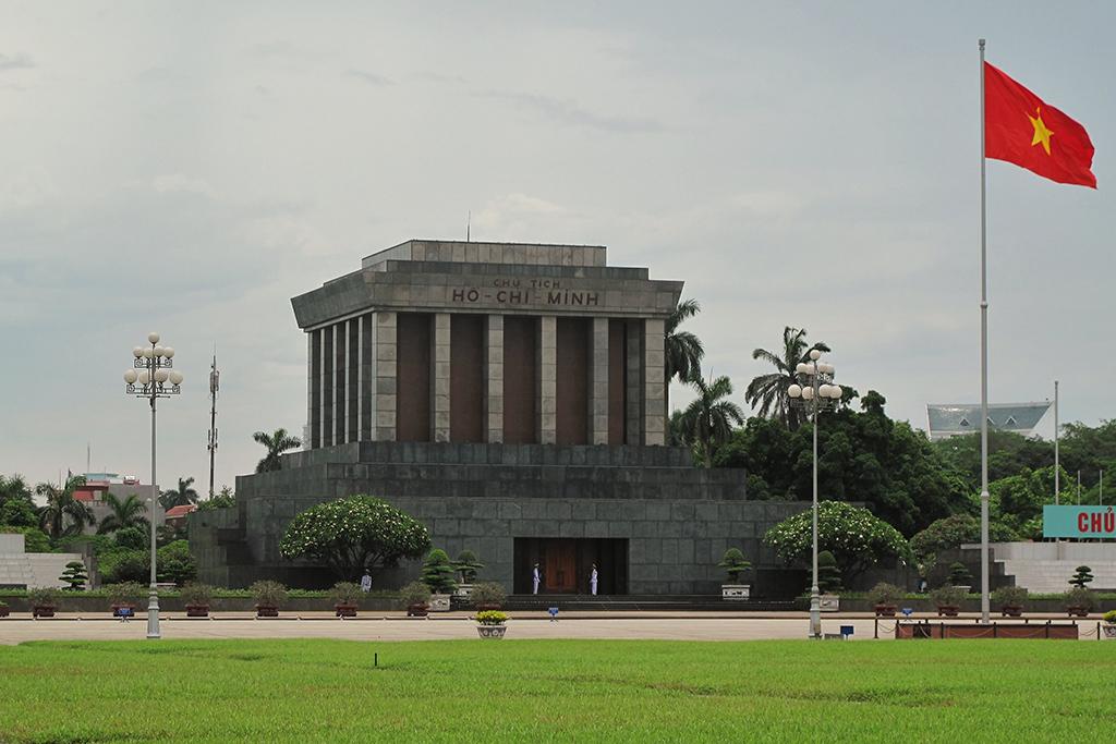 Ho Chi Minh Mausoleum in Hanoi, Vietnam's capital
