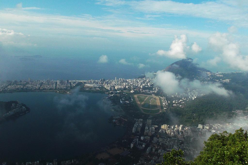 View of the lagoon and the Hipódromo da Gávea in Rio de Janeiro