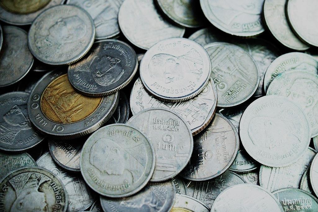 Baht coins.