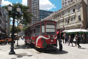 Streetcar in Curitiba