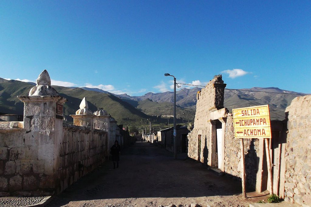 Chivay between Arequipa and the Colca Canyon in Peru