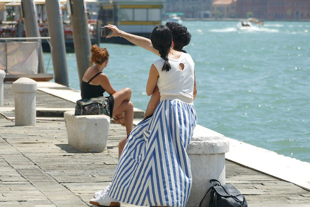 Italy Venice Selfie shooting couple