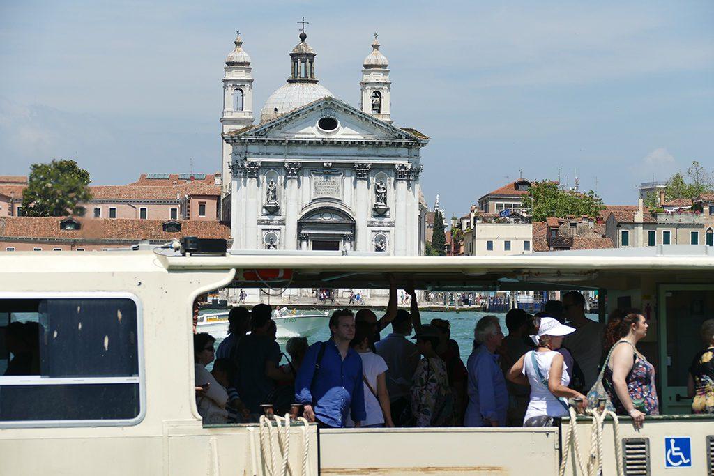 Taking a Vaporetto in Venice