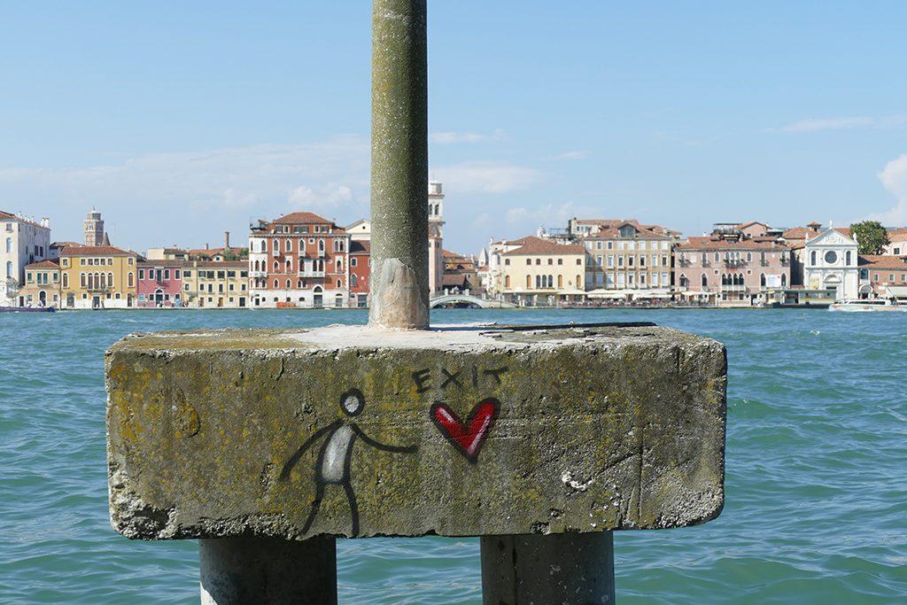 Graffiti on the Giudecca Island of Venice