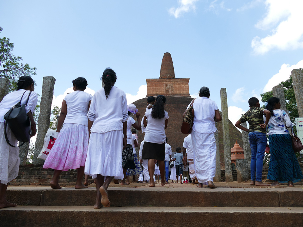 the Abhayagiri Dagaba in the northern part of Anuradhapura