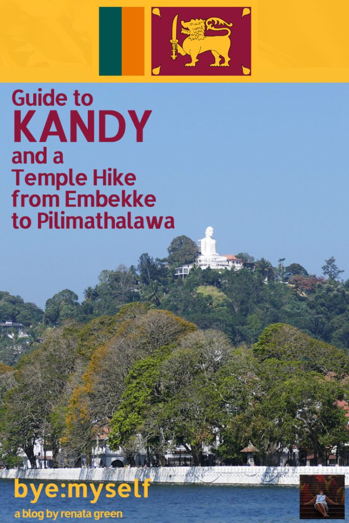 Pinnable Picture for the post on Guide to KANDY and a Temple Hike from Embekke to Pilimathalawa