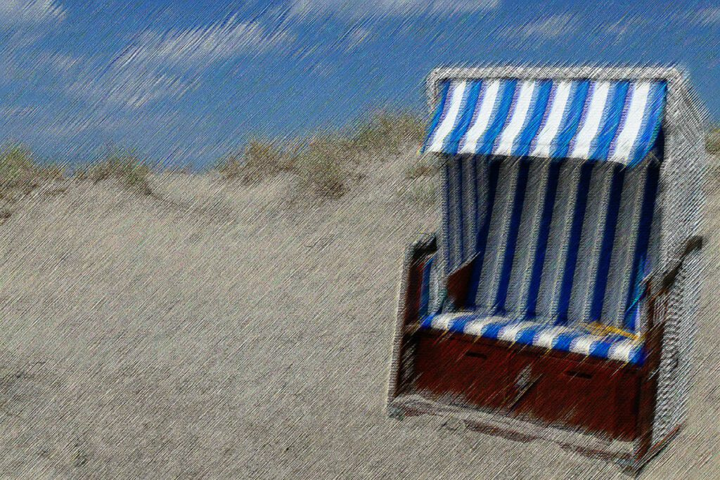 Beach Chair on a German Beach