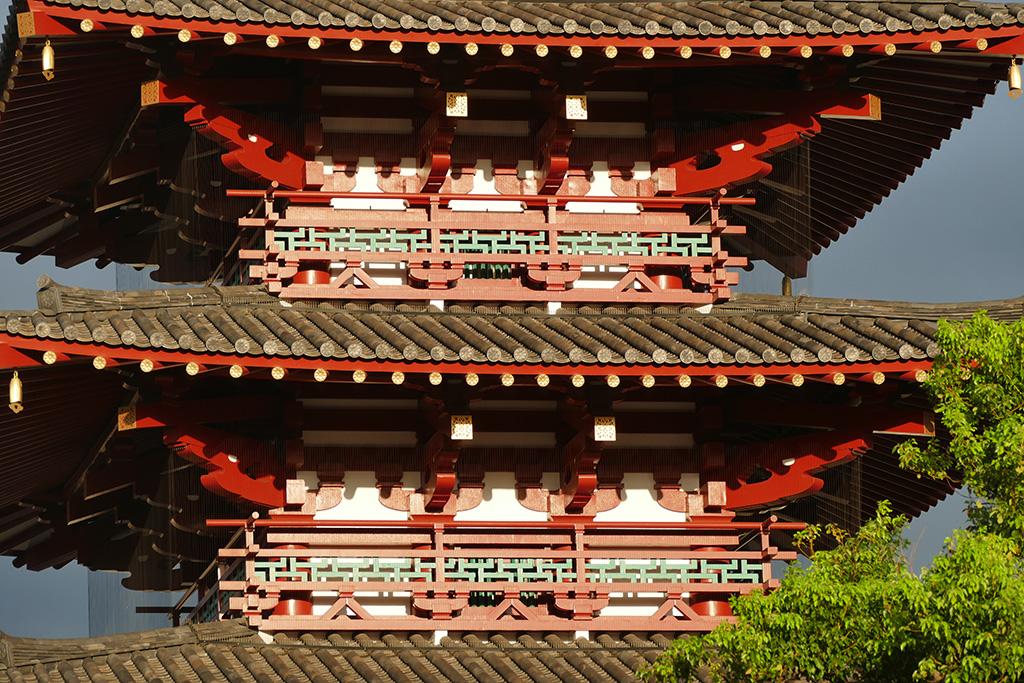 At the Shitennoji Temple in Osaka
