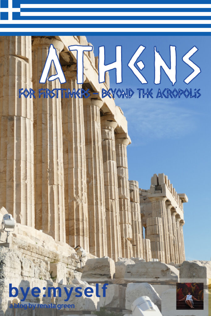 Pinnable PIcture for the Post on Athens for Firsttimers - Beyond the Acropolis. Parthenon in Athens