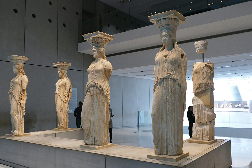 Caryatids at the Acropolis Museum