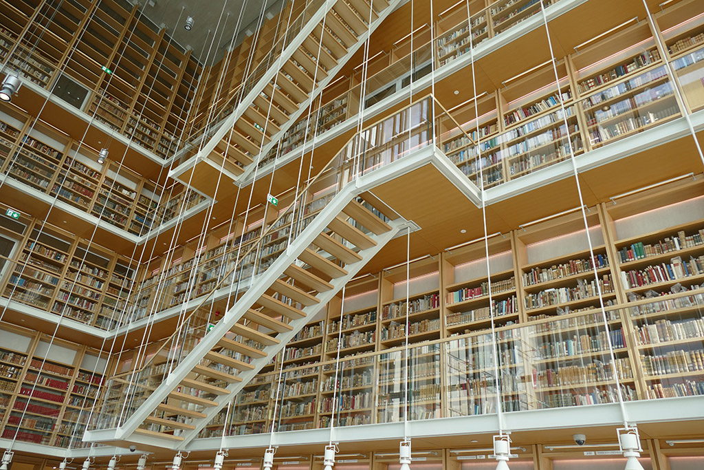 Library at the SNCFF in Athens