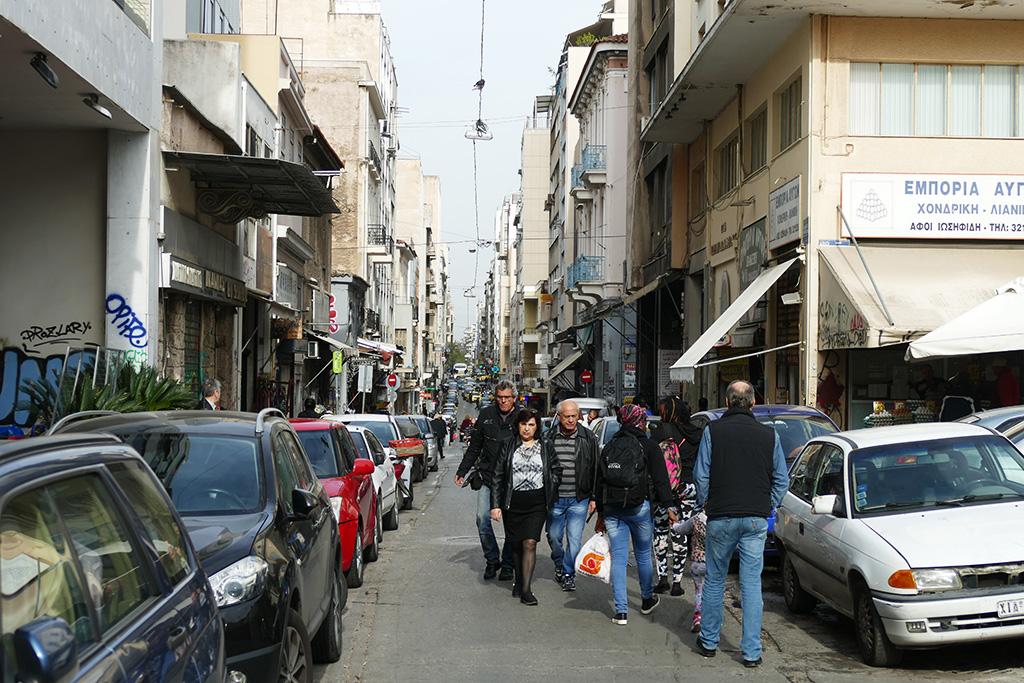 Sokratous street in Athens