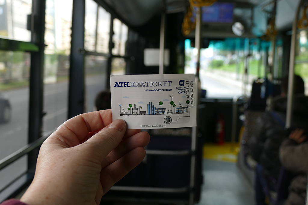 Public transportation ticket in AAthens