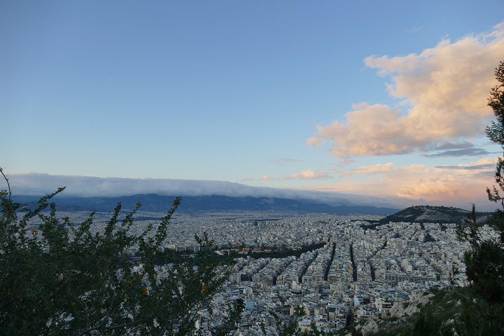 View of Athens from the Lycabettus hill.