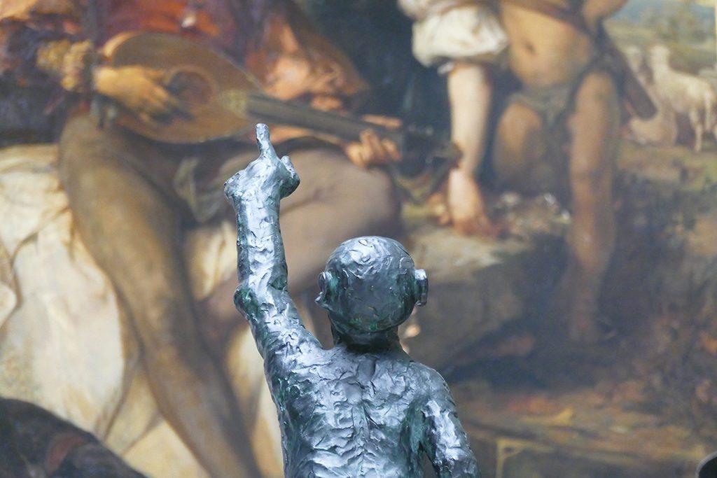 Monkey by Jörg Immendorf at the Kunsthalle Hamburg