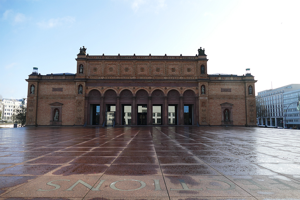 One of the three buildings of the Kunsthalle in Hamburg
