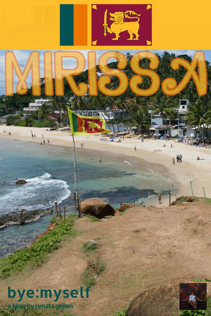 Pinnable Picture for the post on Beaches around Mirissa