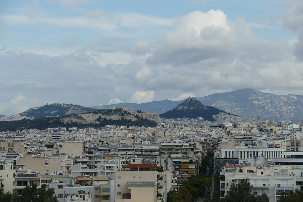 View of Athens from the SNFCC