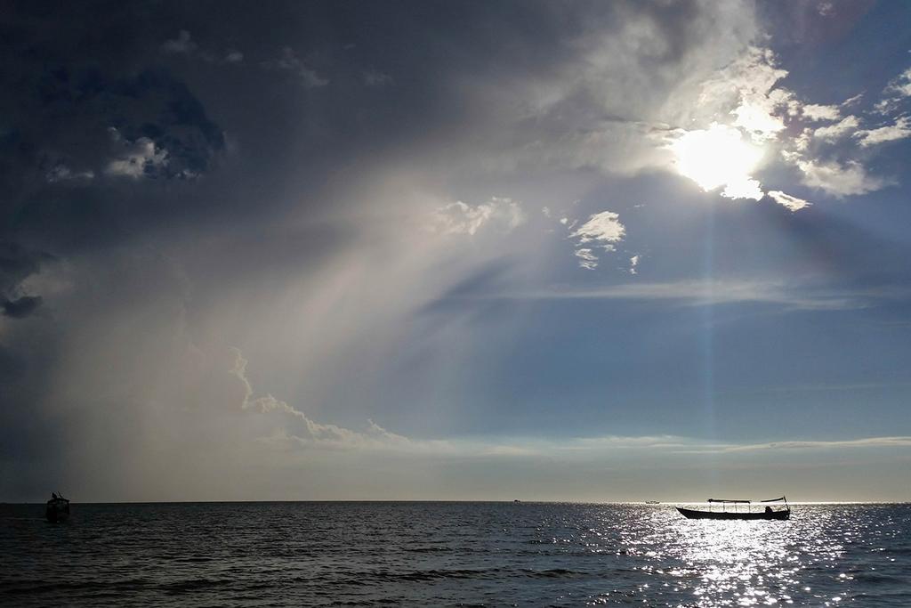 Beach of Sihanoukville, Cambodia's most popular beach town