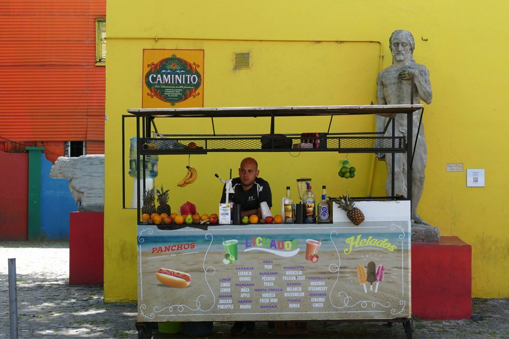 Vendor at the Caminito in La Boca, Buenos Aires.