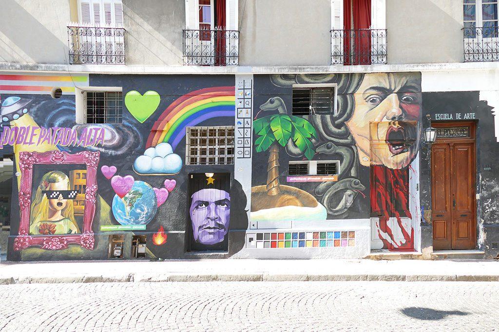 Painted facade in San Telmo, Buenos Aires