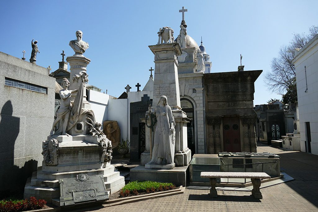 Graves at the Recoleta Graveyard in Buenos Aires