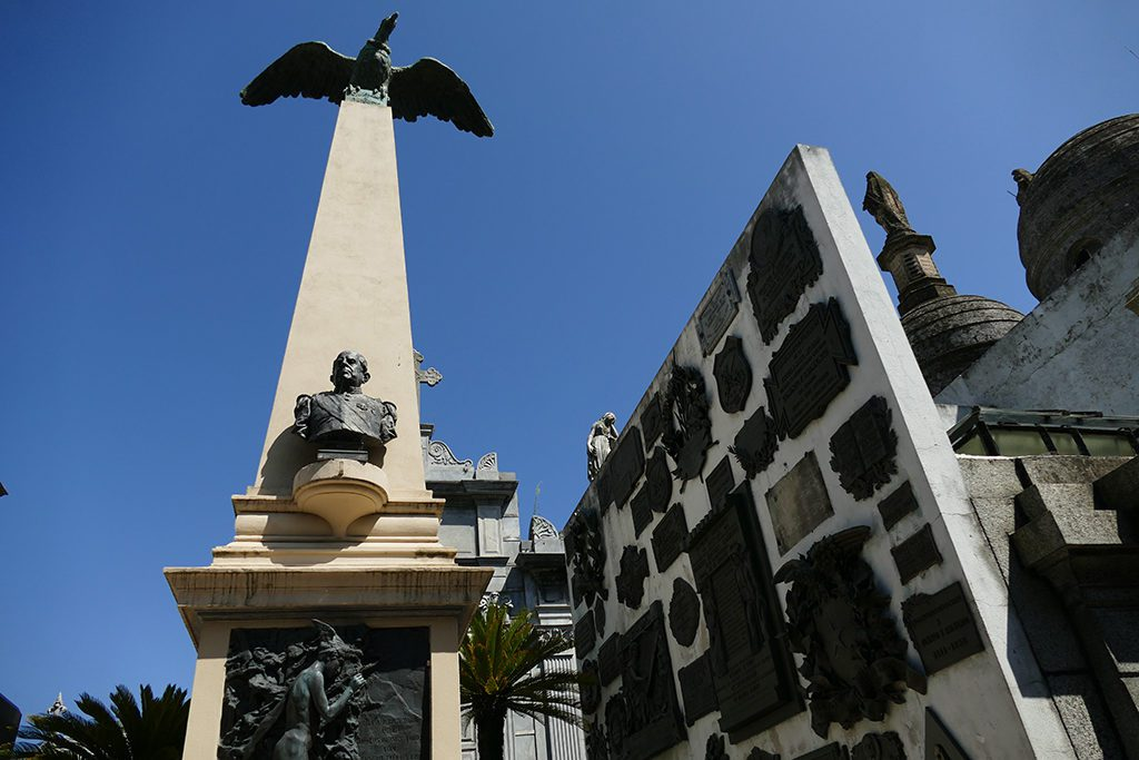 Mausoleum of Domingo Faustino Sarmiento, Argentine writer and 7th President at the Cemetery La Recoleta