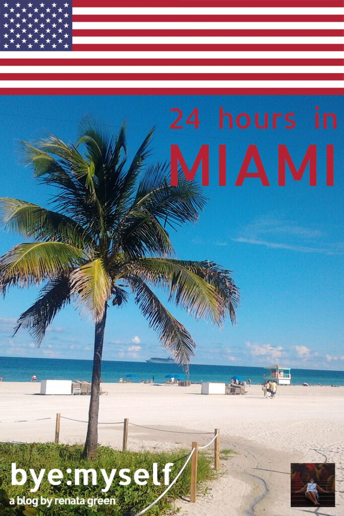 Pinnable Picture on the Post on 24 Hours in Miami, USA