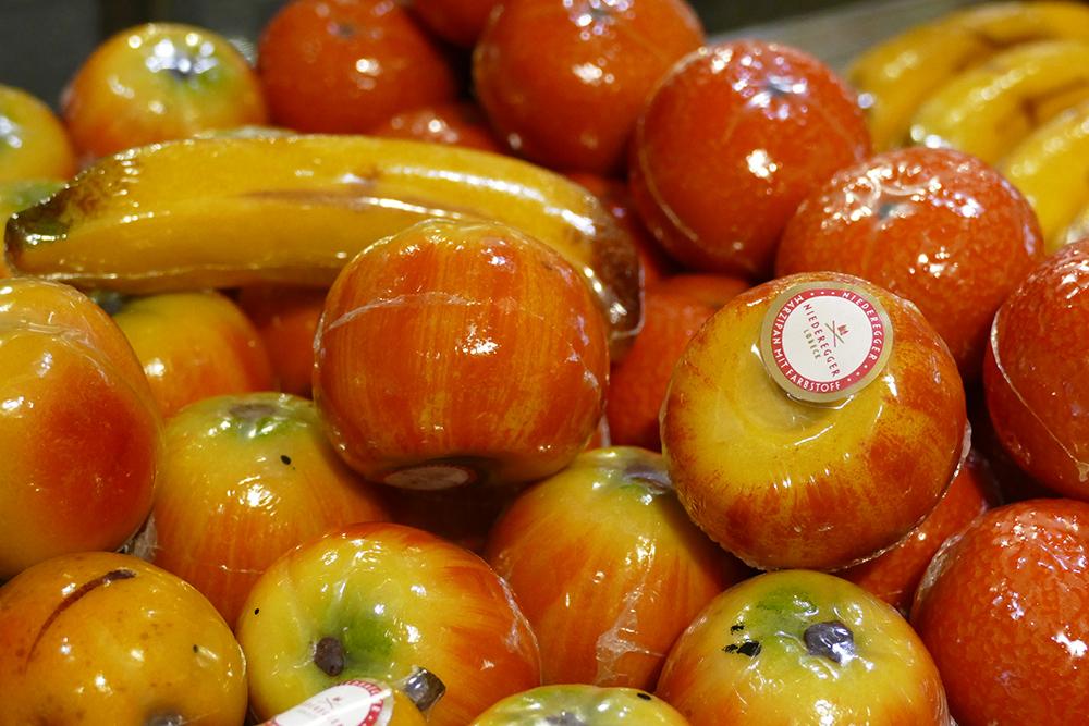 Fruit made of marzipan at Niederegger
