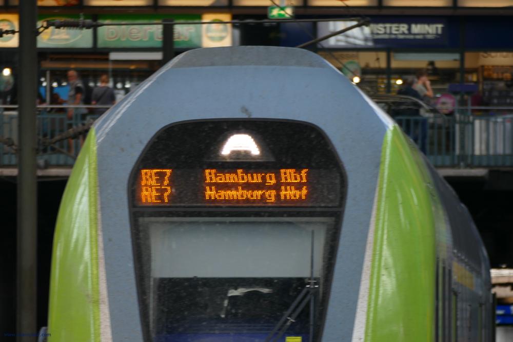 Regional train going from Hamburg to Lübeck