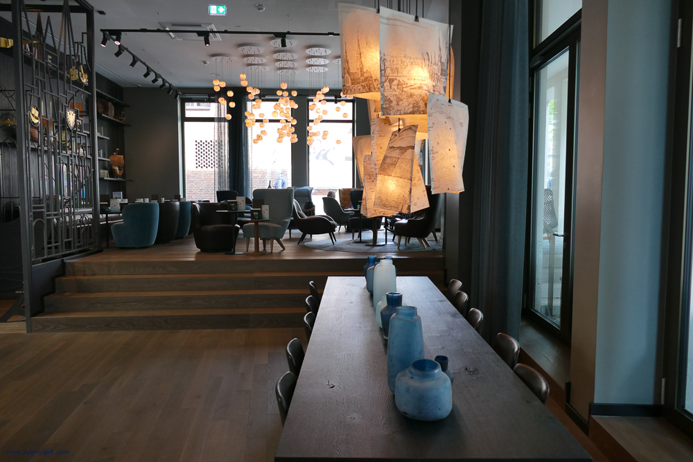 Lobby of the Motel One in Lübeck, Germany