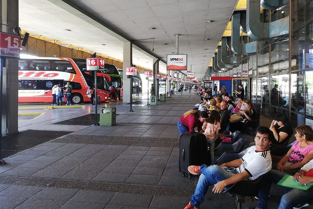 Bus station at the Retiro in Buenos Aires