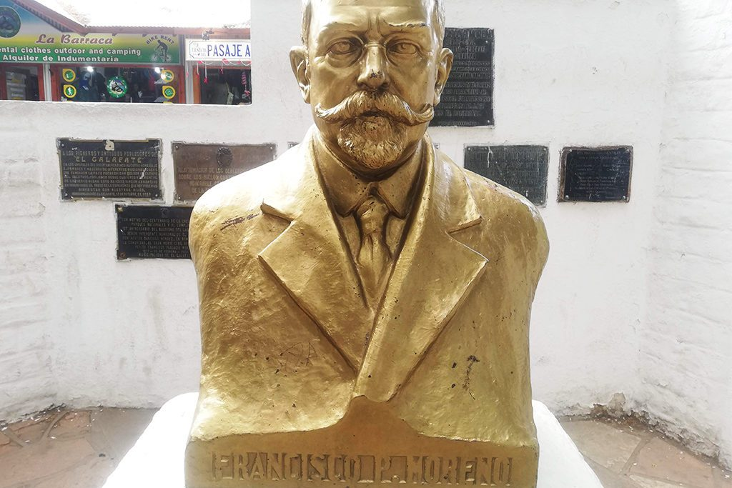 Bust of explorer Francisco Pascasio Moreno