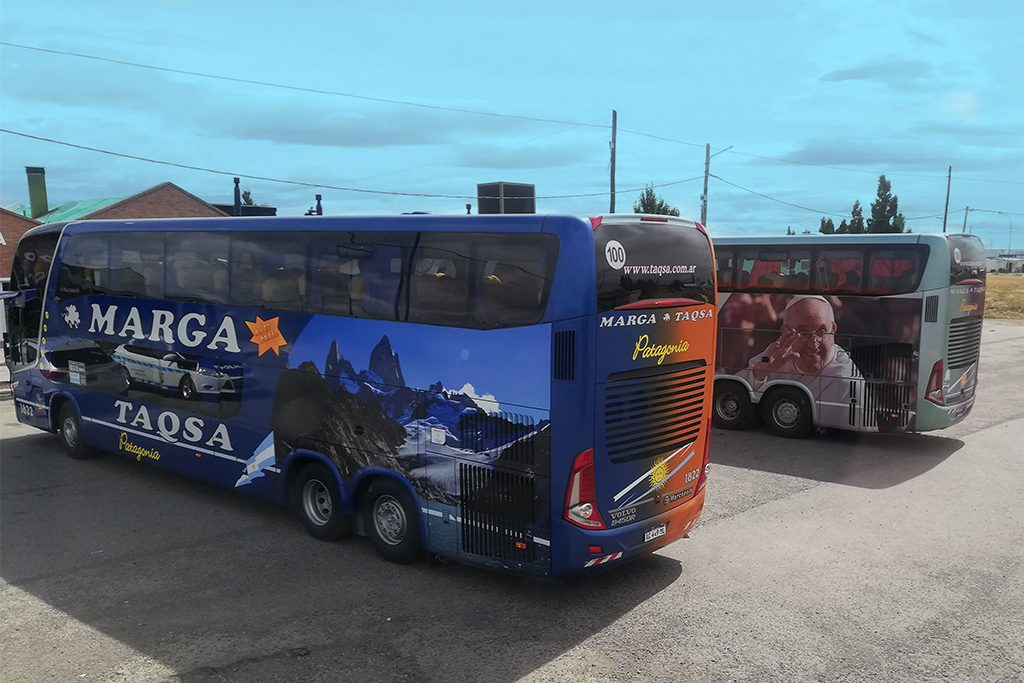 Longdistance buses by the Marge Taqsa Bus Company