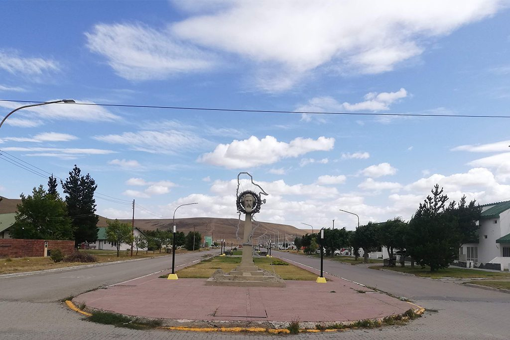 Memorial to Nicolas Avellaneda in Puerto Santa Cruz, Argentina