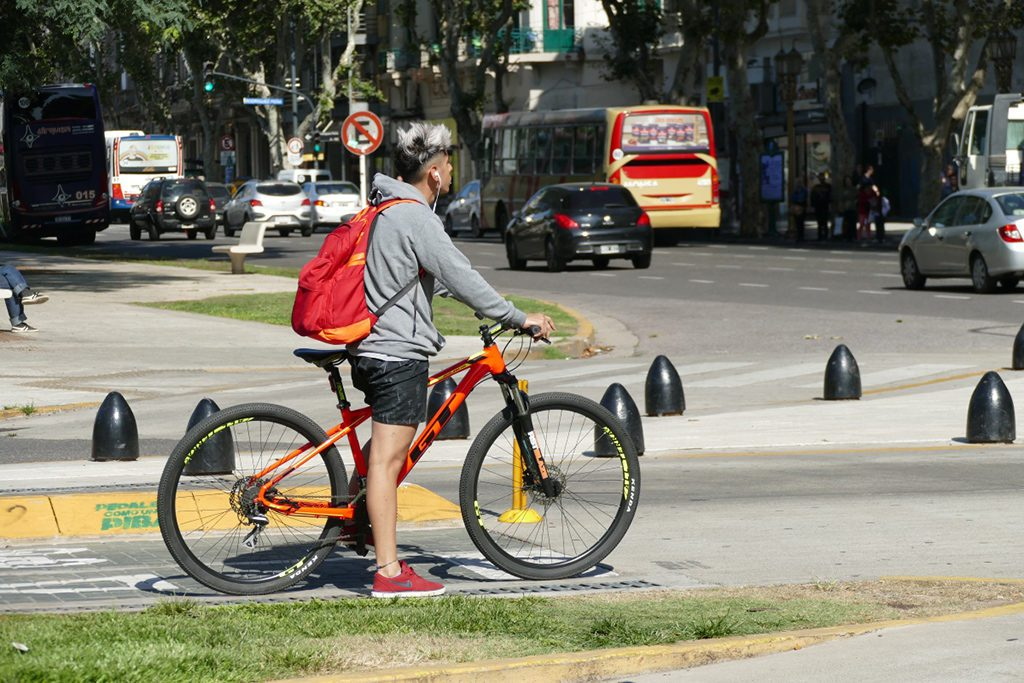 Cyclist in Buenos Aires