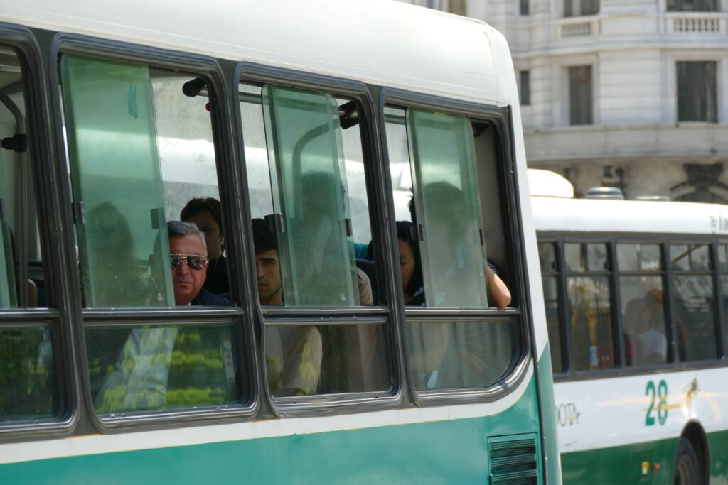 People on a Bus in Buenos Aires