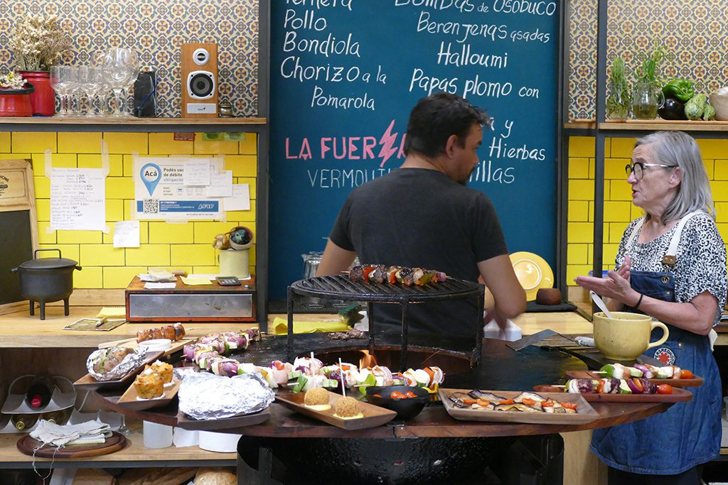 Kitchen at Food Stall at the Mercado San Telmo