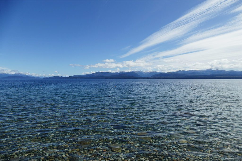 City beach of Bariloche