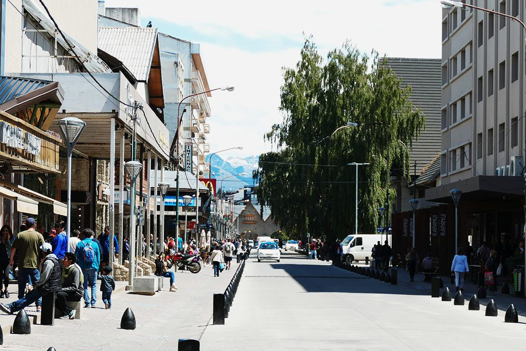 Calle Mitre in Bariloche - during a Swiss Vacation in Argenina
