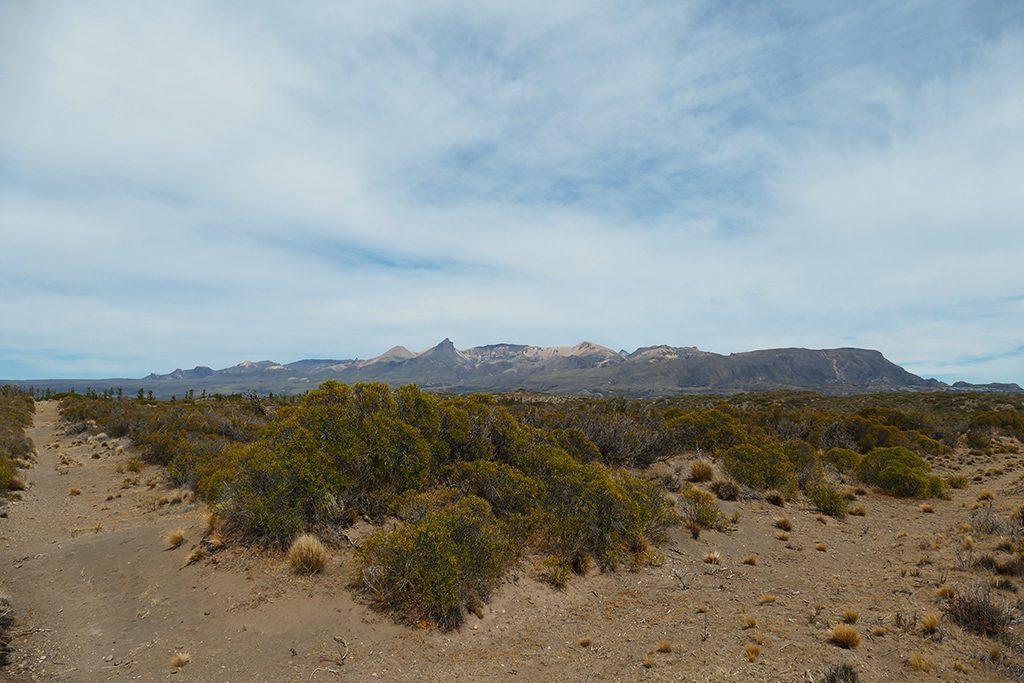 On the summit of the hill Mirador Del Rio Jeinimeni in Los Antiguos